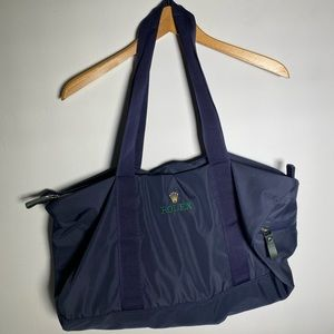 Vintage Rolex Duffle Bag with small bag